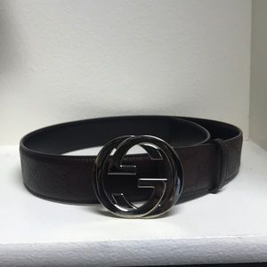 Gucci belt-chocolate brown